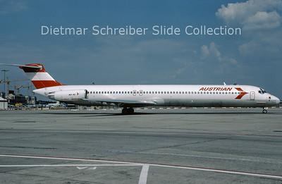 1991-06 OE-LMB MDD MD81 (c/n 49279) Austrian Airlines