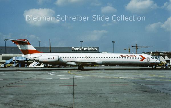 OE-LDW MDD MD81 (c/n 48059) Austrian Airlines