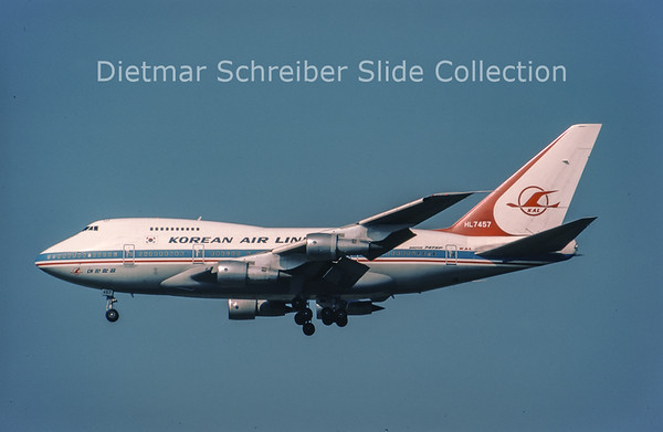1983-07-03 HL7457 Boeing 747SP Korean Air