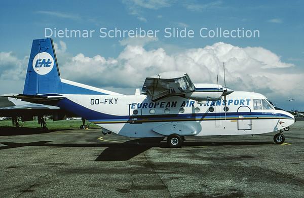 1987-05 OO-FKY Casa 212 European Air Transport