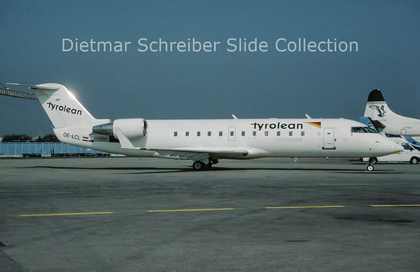 OE-LCL Bombardier Regionaljet 200LR (c/n 7167) Tyrolean Airways