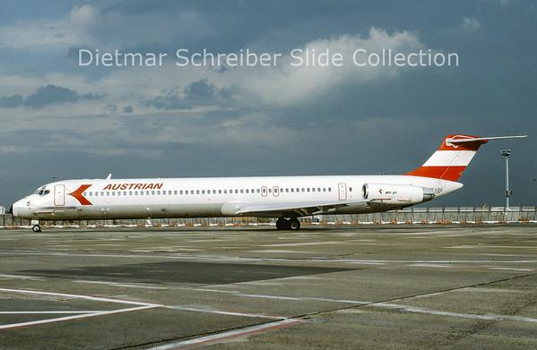 1991-07 OE-LDU MDD MD81 (c/n 48019) Austrian Airlines