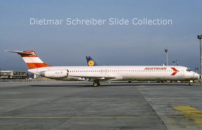 1991-03 OE-LDV MDD MD81 (c/n 48020) Austrian Airlines