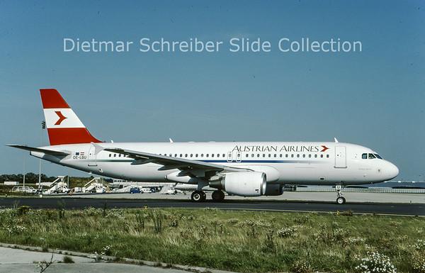 2001-08 OE-LBU Airbus A320-214 (c/n 1478) Austrian Airlines