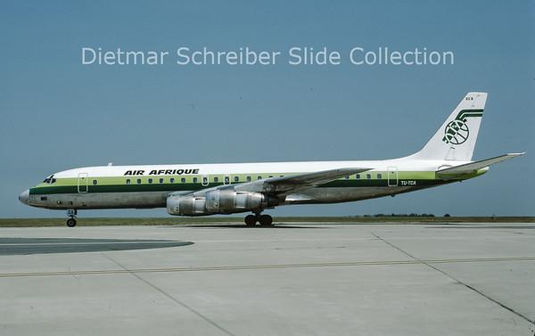 1984-07-08 TU-TCA Douglas DC8-53 (c/n 45670) Air Afrique