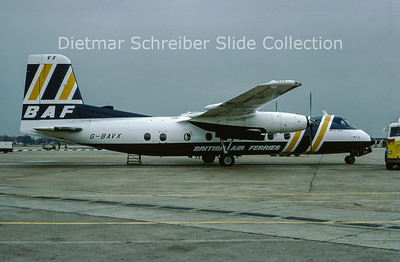 1977-04 G-BAVX Handley Page Herald British Air Ferries
