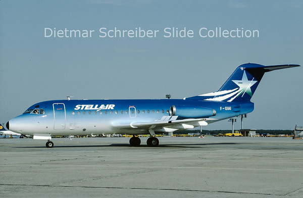 F-GIAI Fokker F28-1000 (c/n 11013) Stellair