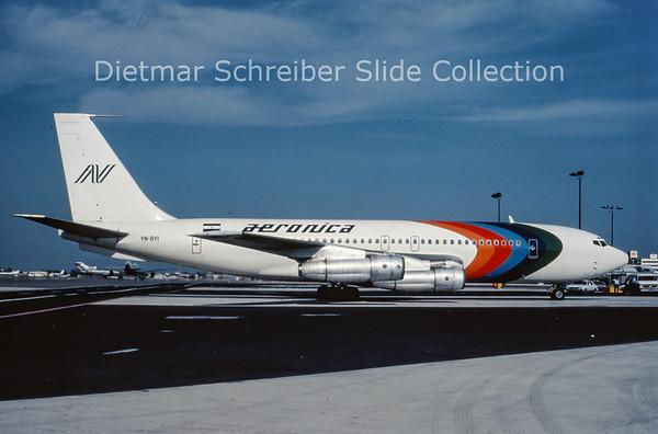 YN-BYI Boeing 720 Aeronica