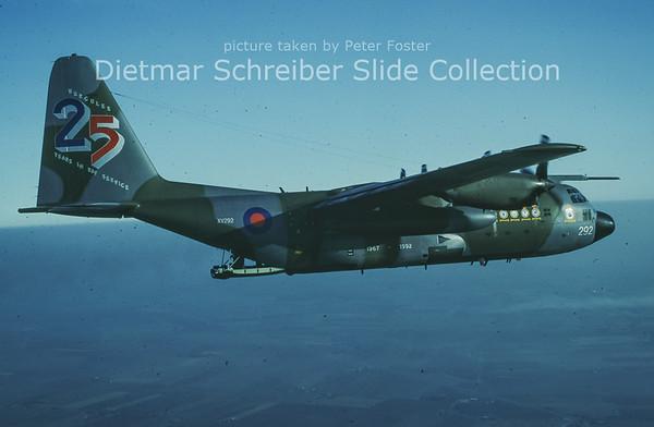1991-12-11 XV292 Lockheed C130C1P Hercules (c/n 4257) Royal Air Force