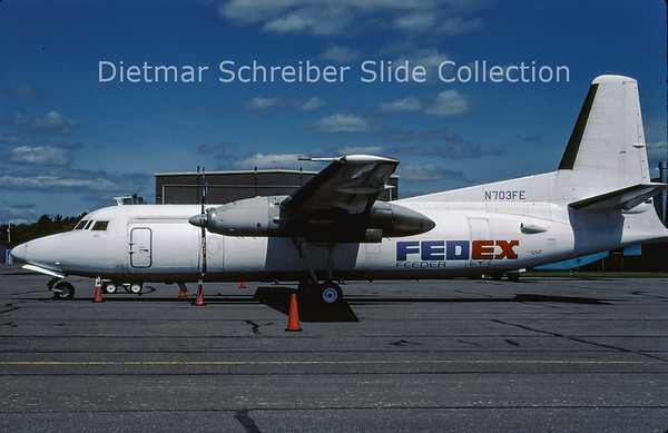 2001-09 N703FE Fokker F27-600 (c/n 10420) Federal Express