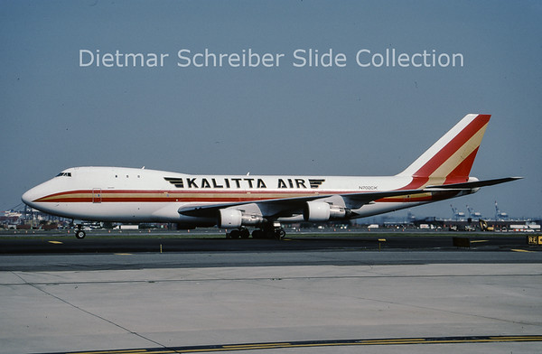 2003-07 N702CK Boeing 747-146F (SCD) (c/n 20332) Kalitta Air