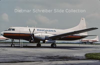 2001-09 N587CA Convair CV640F (c/n 463) Rhoades