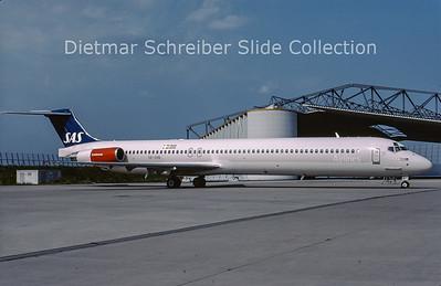 2001-08 SE-DIN MDD MD82 (c/n 49999) SAS Scandinavian
