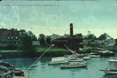 East River at Remsen St (12th St), Pot Cove, Astoria.