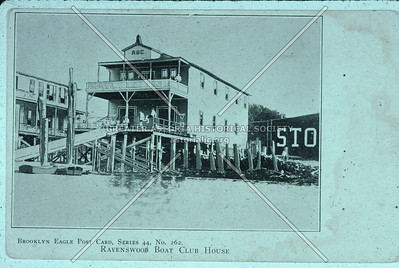 Ravenswood Boat Clubhouse, foot of 33rd St., Astoria.
