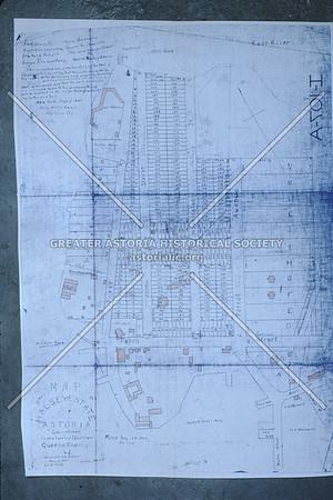 Astoria Buildings Map, 1842.