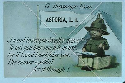 WWI Card, Astoria.