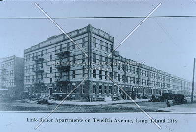 Link-Reher Apartments, 12th Av & 42th St, 1924, Astoria.