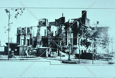 Ruins of LIC Courthouse after 1904 fire, Jackson Ave, LIC.