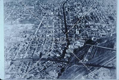 Aerial view Sunnyside Yards and Sunnyside.