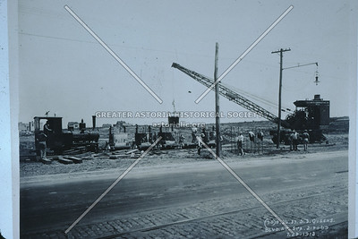 Flushing Line elevated construction, Queens Blvd at 47 St, Sunnyside, 1913