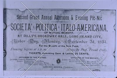 Labor Day picnic, Italian-American Club, LIC.