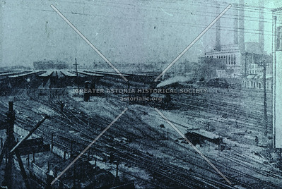 LIC railroad yards, 1904, Hunters Point, LIC.