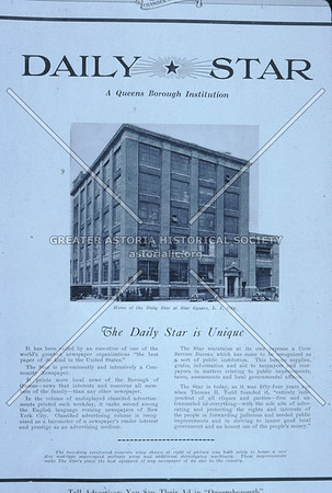 Daily Star Newspaper Office, 42nd Rd and 28th St (Hunters Point), Astoria.