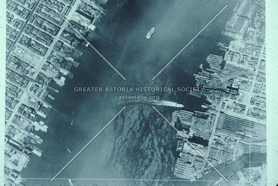 Aerial View of East River at Hunters Point, LIC.