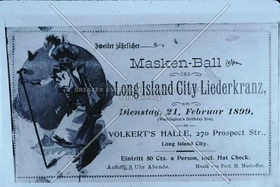 Masked Ball, LIC Liederkranz, Prospect St (27th St), Astoria.