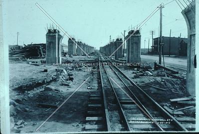 Queens Blvd at Honeywell (35 St), Flushing Line viaduct, Sunnyside, 1913
