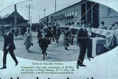 Scene at Bayside Long Island Rail Road station, 1933