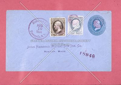Richmond Hill postmark, 1886