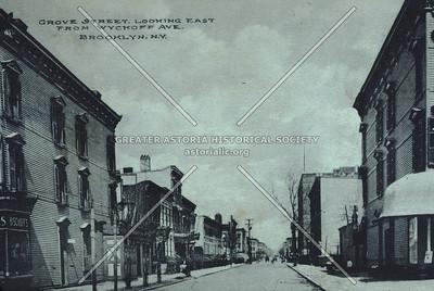 Grove Street from Wyckoff Avenue, Ridgewood