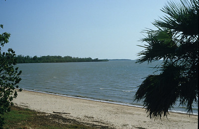 Waters edge near the caravan park.