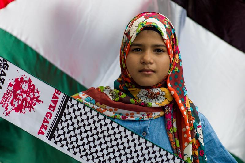 Palestinian's protest in Kuala Lumpur