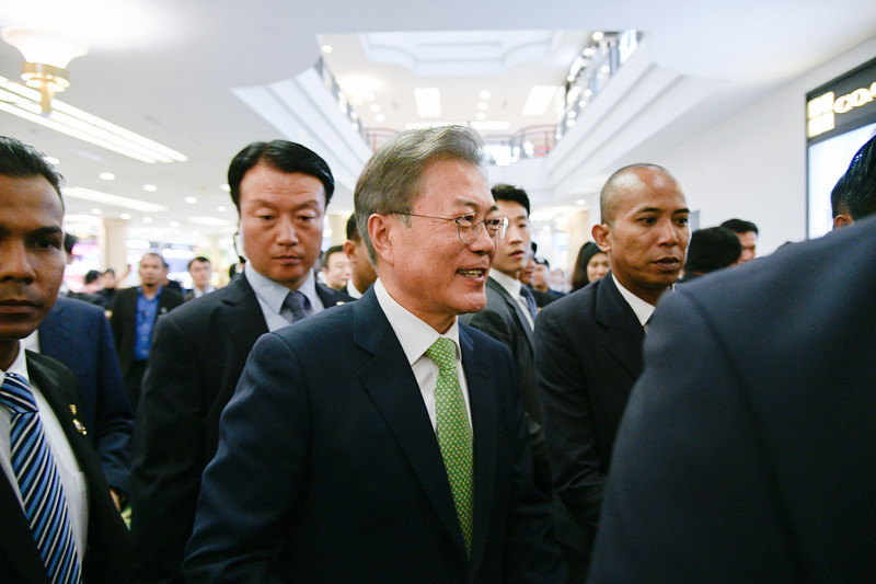 President of South Korea Moon Jae-in arrives in Kuala Lumpur, Malaysia for state visit