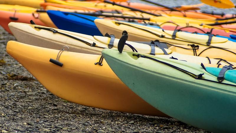 Kayaks on the Sandbar, Bar Harbor, Maine, 2011.