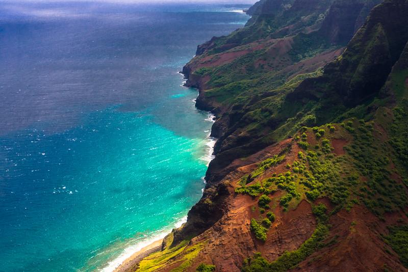 Na Pali Coast, Kaua'i, Hawai'i, 2014.