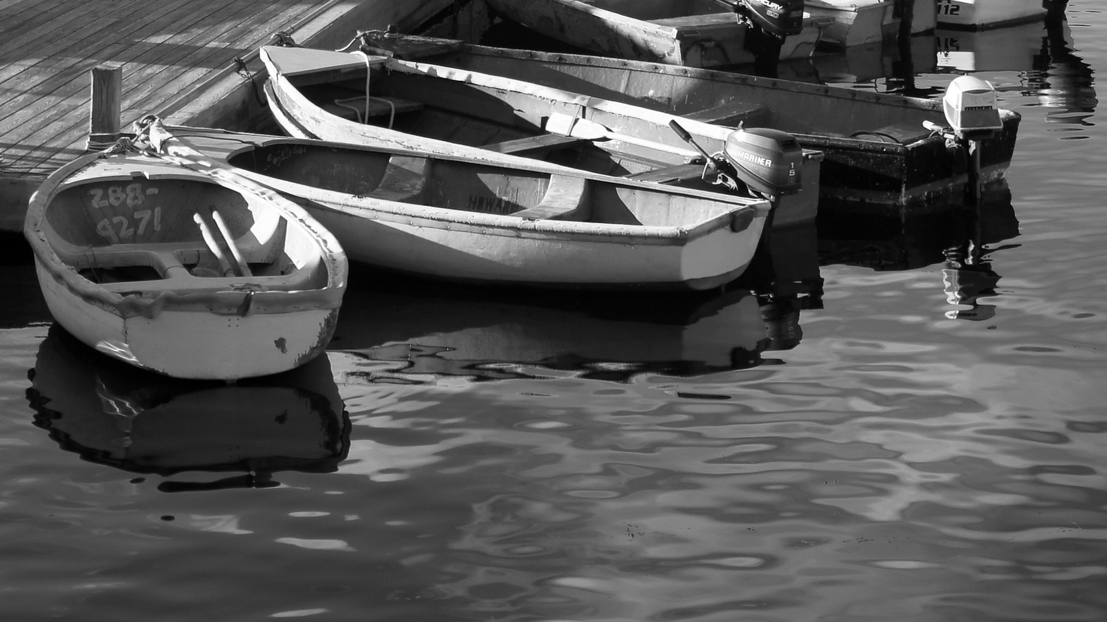 Dinghies in Afternoon Light, Bar Harbor, Maine, 2011.