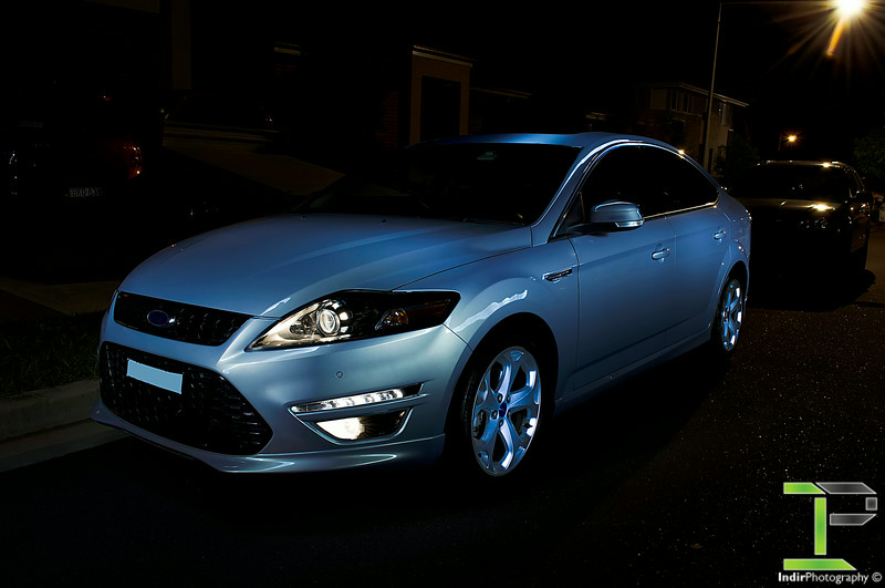 Light Painted Ford Mondeo Titanium