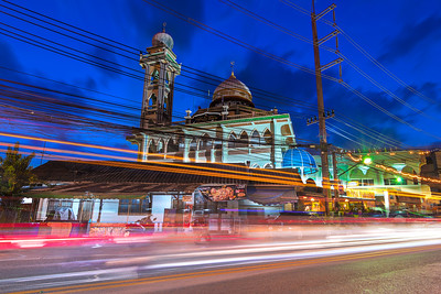 Patong Beach mosque at blue hour