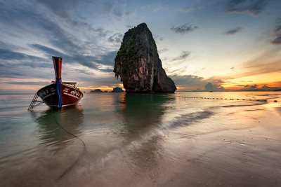 Phra Nang Beach at sunset