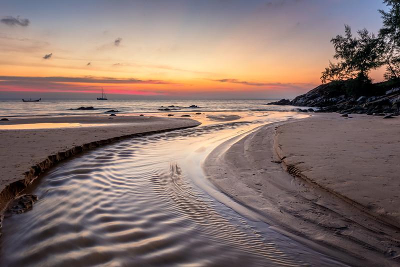 Beautiful sunset on Naithon Beach