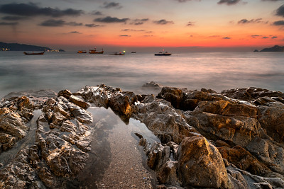 seascape in Sunset time at Kalim Beach