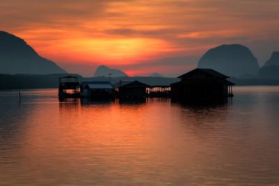 Ban Sam Chong Tai at sunrise
