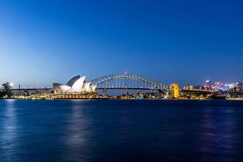 Sydney Opera House and Bridge at Night