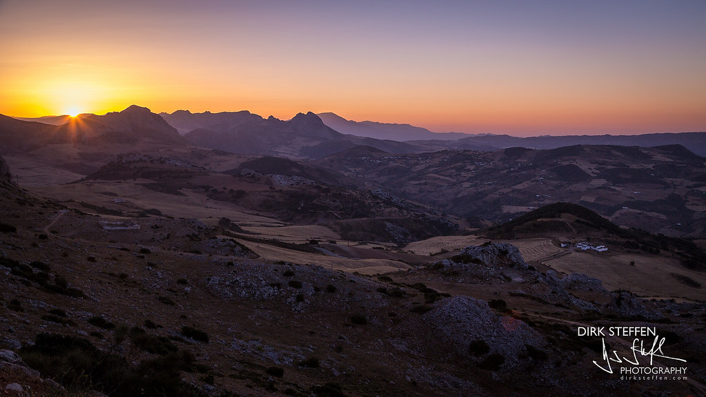 Sunset from El Torcal de Antequera, Andalusia, Spain