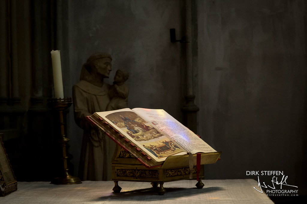 Bible in St.-John's Cathedral, s'Hertogenbosch (Den Bosch), The Netherlands