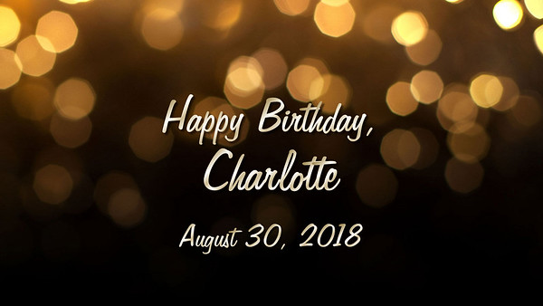 Happy Birthday, Charlotte